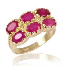 Double Crown Ruby Cocktail Ring
