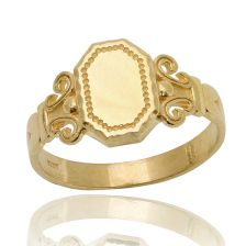 Yellow Gold Octagon Ring