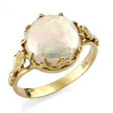 Unique Gold Pearl Ring