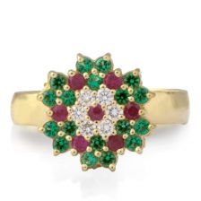 Rich and Colorful Snowflake Ring