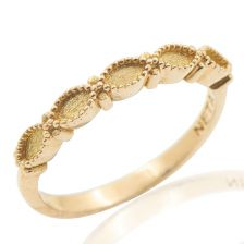 Half Eternity Marquise Gold Ring