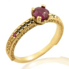 Ruby Pave Engagement Ring