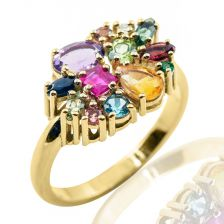 Multicolor Cocktail Ring
