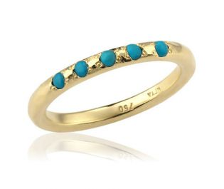 Classic Turquoise Eternity Ring