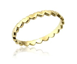 Endless Hearts Petite Yellow Ring