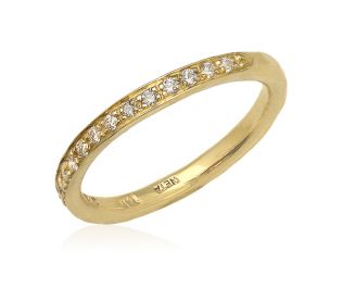 Solid Gold Half Eternity Ring