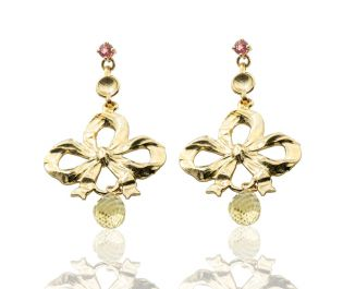 Vintage Gold Bow Earrings