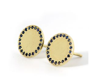 Victorian Style Engraved Roung Earrings