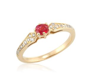 Antique Ruby Pave Ring