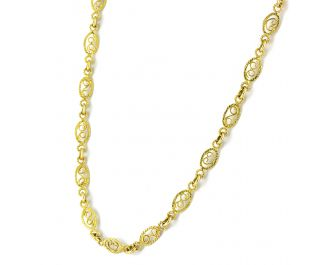 Yellow Gold Filligree Necklace