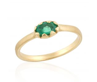 Oval Emerald Cocktail Ring