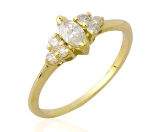 Marquise Side Stone Ring