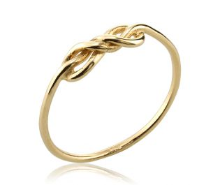 Double Infinity Yellow Gold Ring