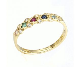 Victorian Eternity Ring in Yellow Gold