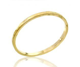 Perfect Classic Hammered Thin Wedding Band