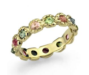 Multi Colored Stone Ring 14k Gold
