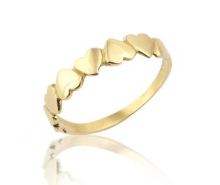 Golden Hearts Promise Ring