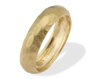 Classic Rounded Wide Wedding Band Yellow Gold