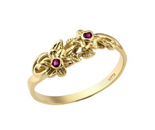 Rare Ruby Floral Ring
