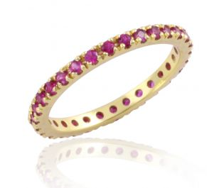 Pave Ruby Infinity Band