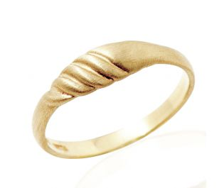 Delicate Handcrafted Gold Band