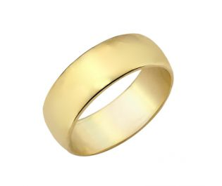 Classic Wide Gold Wedding Band