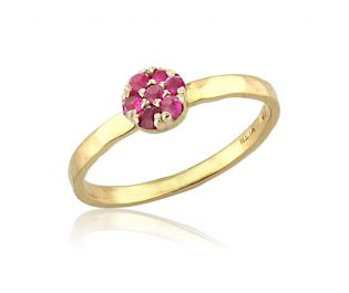 Cluster Ruby Ring