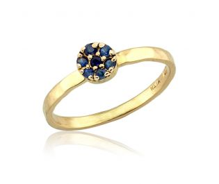 Big Sapphire Cluster Ring