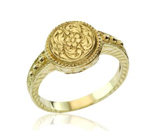Victorian Engraved Gold Ring