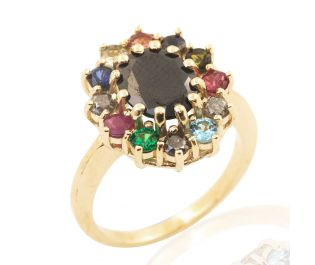 Victorian Style Gemstone Ring Cluster Setting