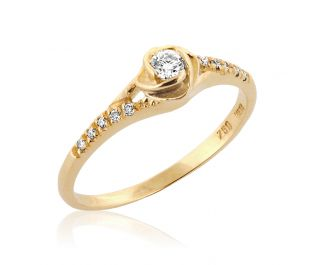 Artistic Rose Gold Engagement Ring
