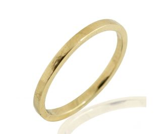Solid Yellow Gold Plain Straight Side Band