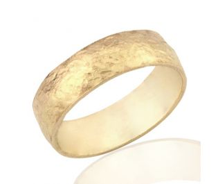 Modern Two-Tone Gold Wide Band