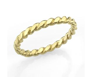 Entwined Yellow Gold Wedding Band