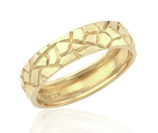 Handcrafted Crocodile Yellow Gold Band