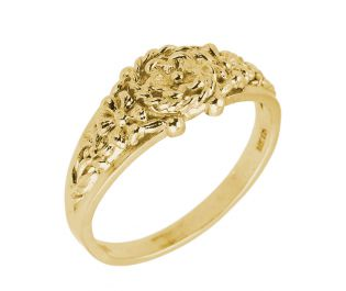 Yellow Gold Vintage Floral Ring