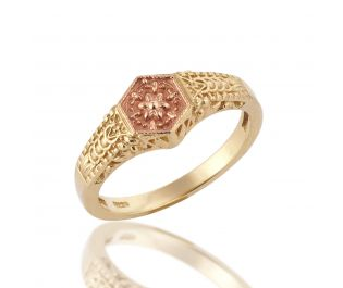 Baroque Style Two-Tone Gold Ring