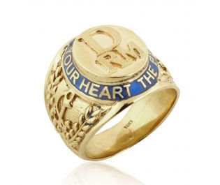 The Best Guide is Your Heart Men's Gold Ring