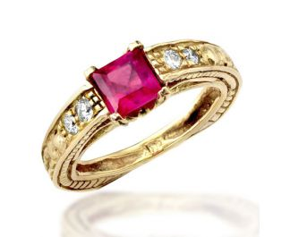 Victorian Style Ruby Ring