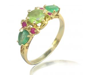 Art Nouveau Style Ring in Yellow Gold
