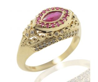 Ruby Cleo Statement Ring