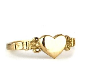 Victorian Heart Gold Signet Ring